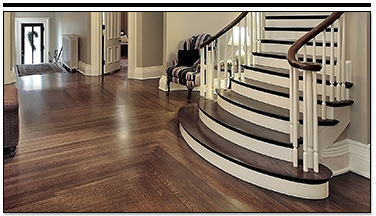 Hardwood Floor and Wooden Staircase